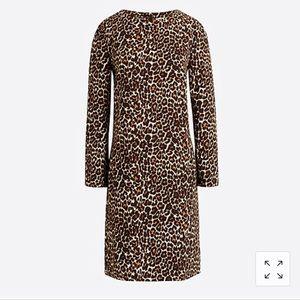 J. Crew leopard crepe shift dress